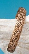 Armreif - geflochten, Kupfer 12 mm breit