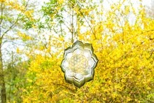Mobile Blume des Lebens mit Lotusblume, 25 cm