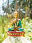 Kanakamuni Buddha sitzend - Messing, ca. 11.5 cm