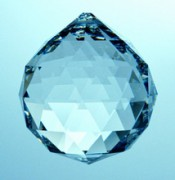 Regenbogen Kristalle - Kugel  40 mm, bleifrei