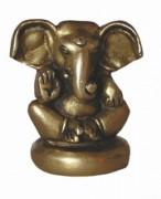 Ganesha - sitzend, Messing, ca. 6 cm