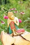 Buddha - ruhend, Messing - 25 cm