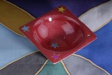 Räucherhalter - Star Emaille rot