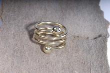 "Magnetschmuck - ""Spiral""- Magnet-Ring, vergoldet"