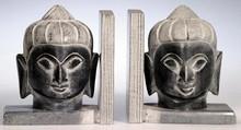 Buchstützen - Buddha, schwarz