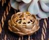 Räuchergefäß - Lotus - aus Messing